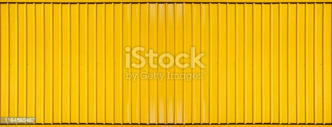 istock Yellow box container striped line textured background 1164860467