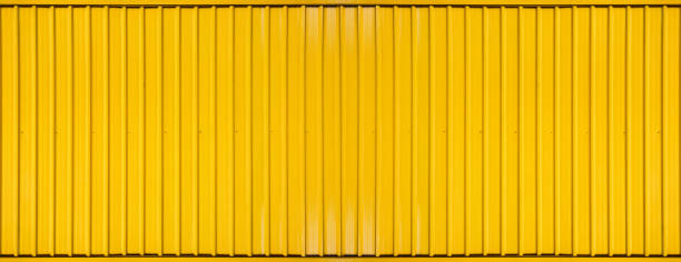 Yellow box container striped line textured background stock photo