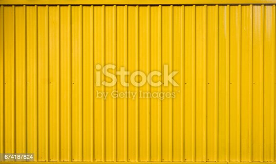 istock Yellow box container striped line textured 674187824