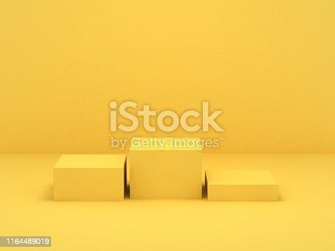 Yellow box podium