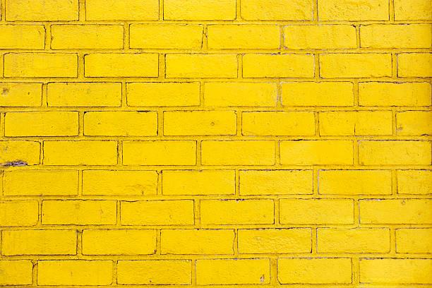 Fundo de Tijolo Amarelo. - foto de acervo