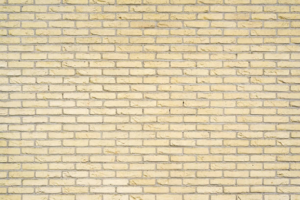 gelber Ziegelwandhintergrund – Foto