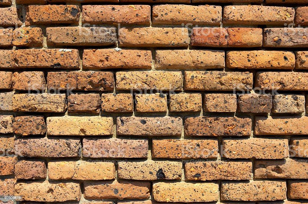 yellow brick wall royalty-free stock photo