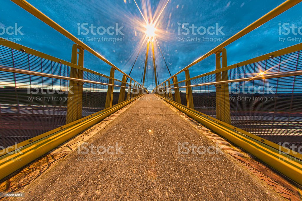 Yellow bridge royalty-free stock photo