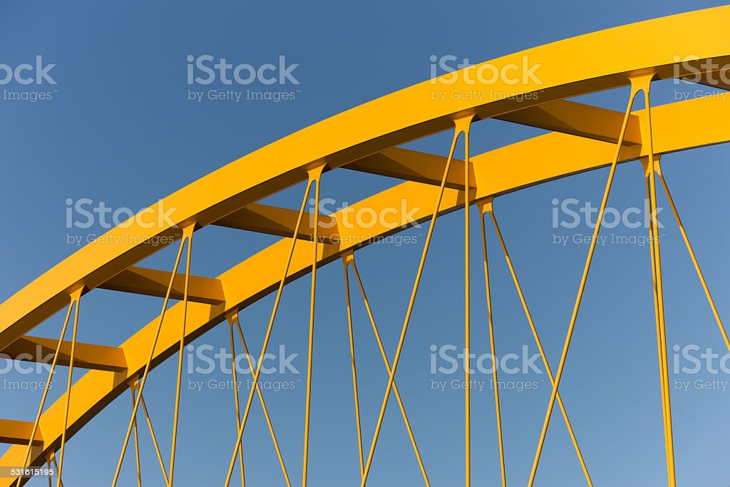 Yellow bridge stock photo