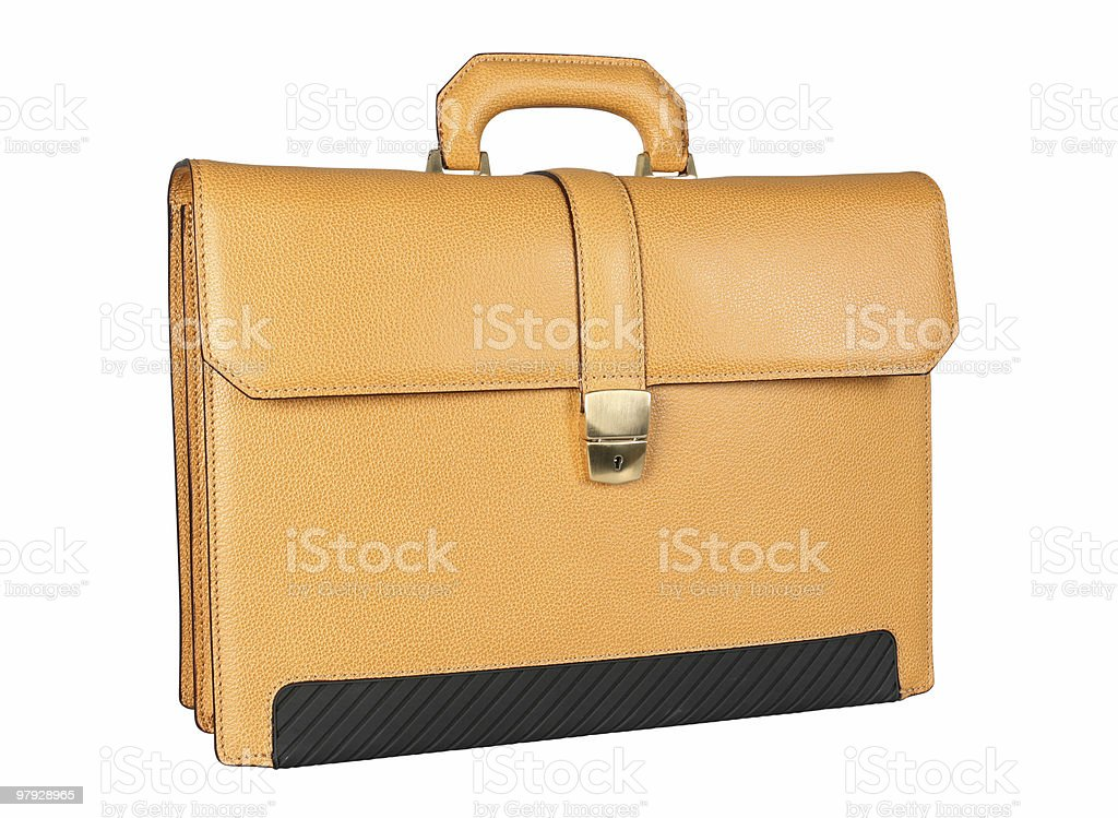Yellow briefcase royalty-free stock photo