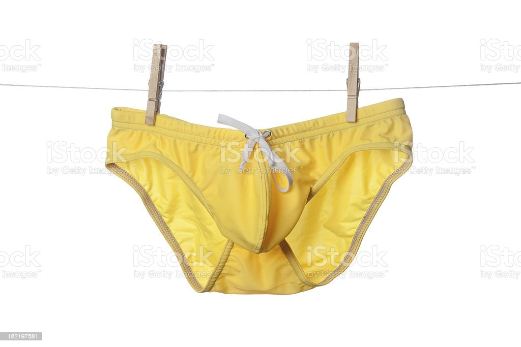 Yellow Briefs stock photo