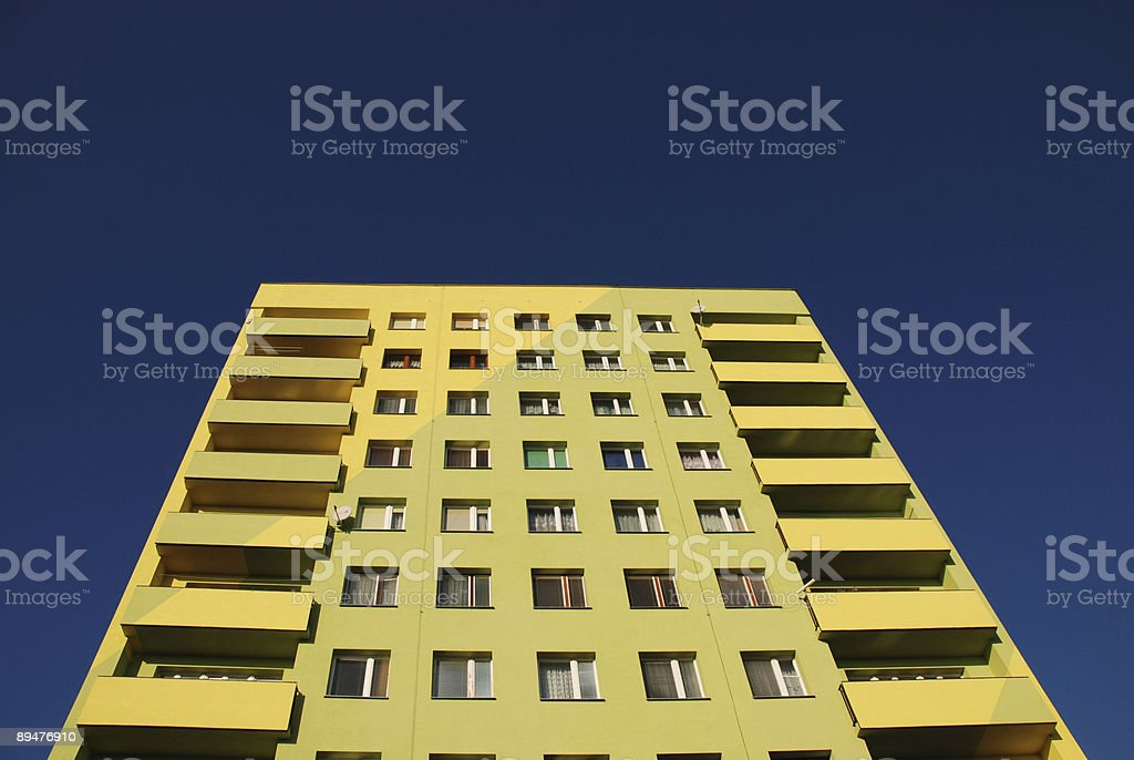 Yellow building royalty-free stock photo
