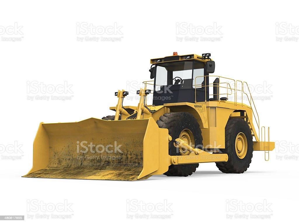 Gelbe Bulldozer Isoliert – Foto