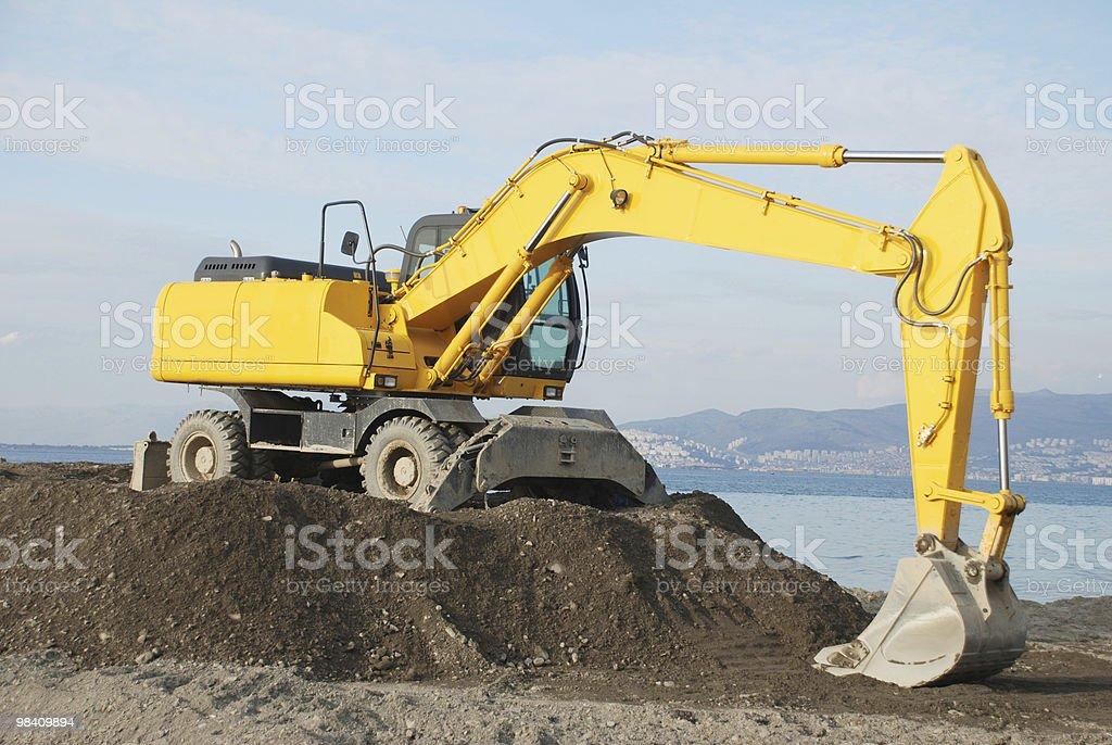 bulldozer giallo foto stock royalty-free
