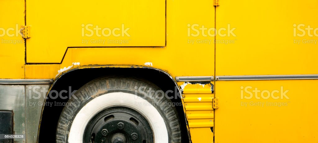 Yellow Bus texture royalty-free stock photo