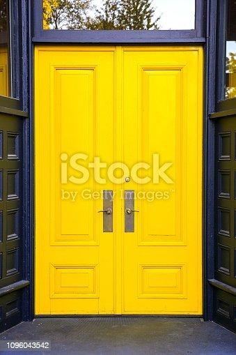 Yellow Business Entry Door