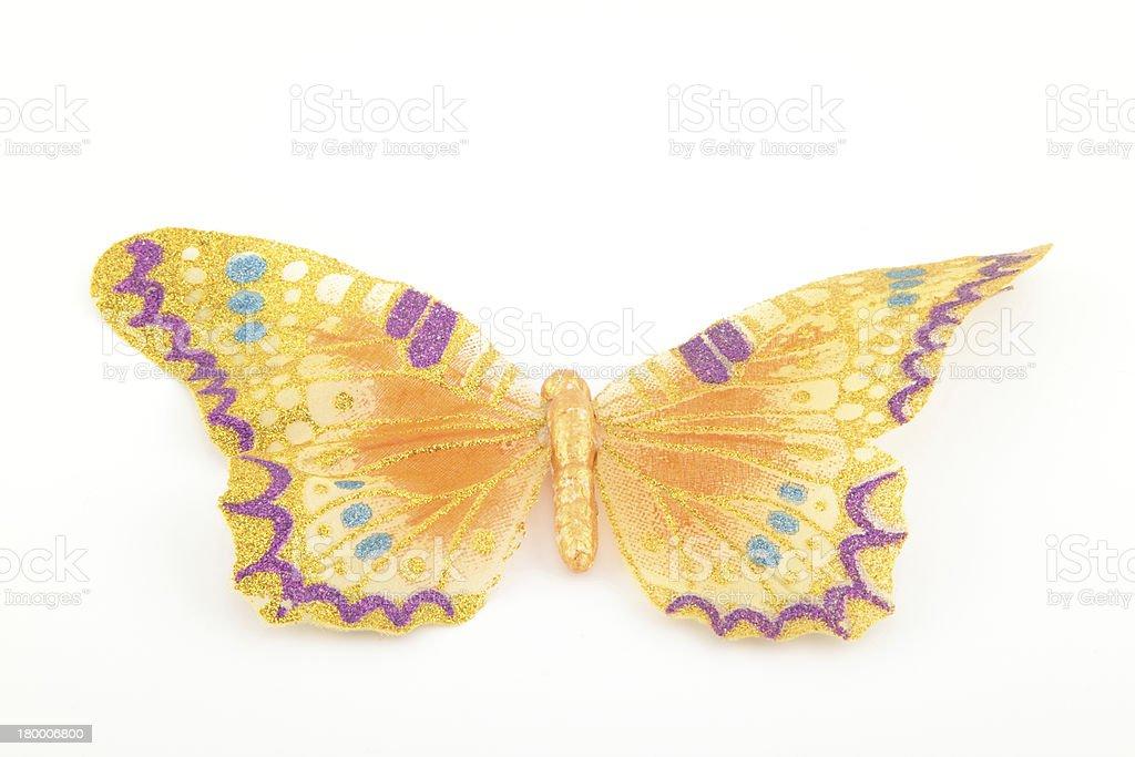 노란 나비 흰색 royalty-free 스톡 사진