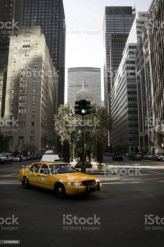 Yellow Cab at New York royalty-free stock photo