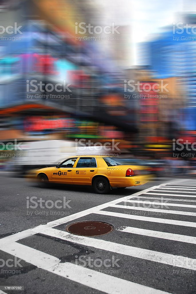 Yellow cab royalty-free stock photo