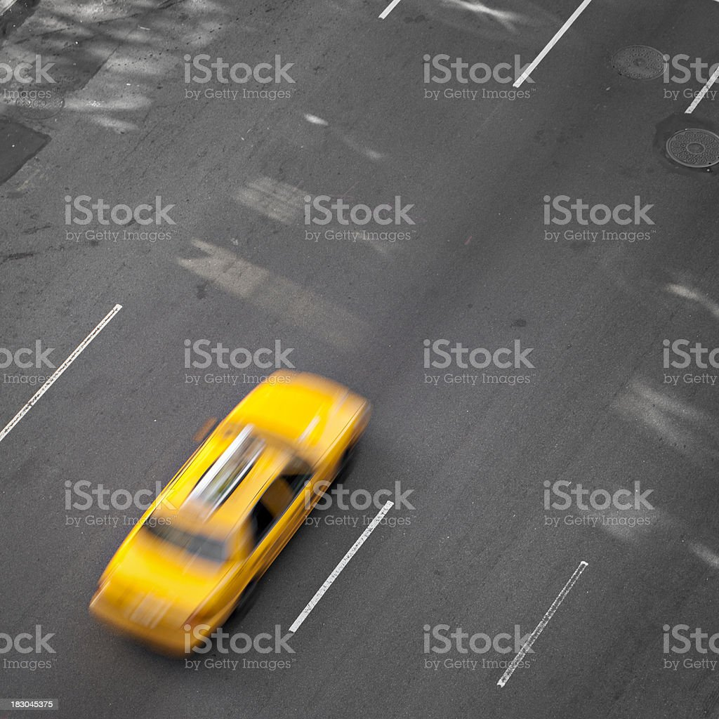 NYC yellow cab royalty-free stock photo