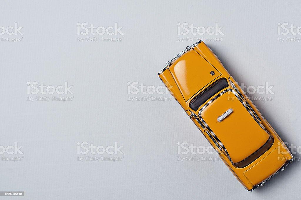 Yellow cab toy stock photo