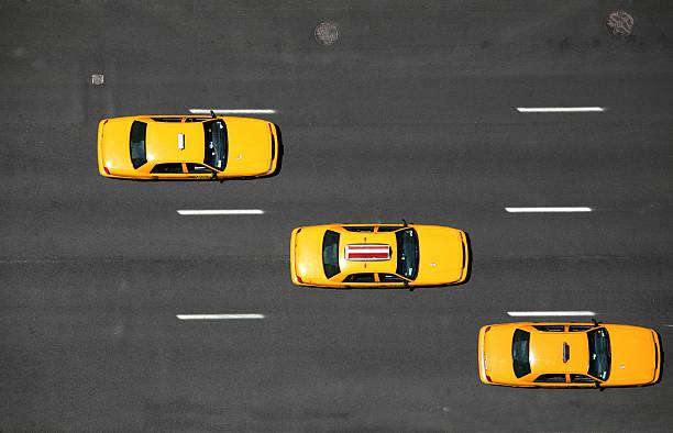 Les taxis jaunes de New York-Vue aérienne - Photo