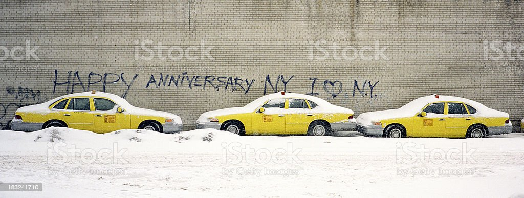 Yellow cabs, NYC royalty-free stock photo
