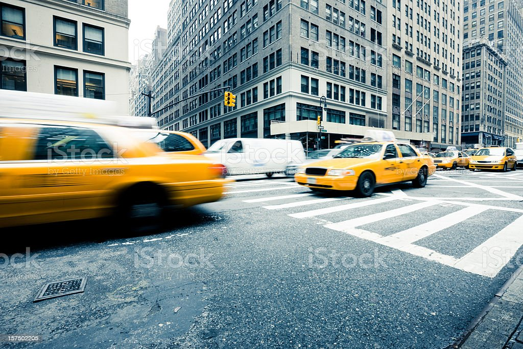 Yellow Cabs Taxis New York City royalty-free stock photo