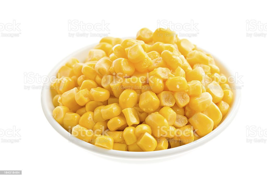 Yellow Canned Corn royalty-free stock photo