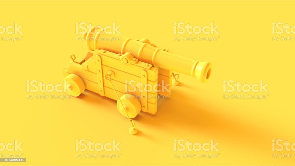 Yellow Cannon stock photo