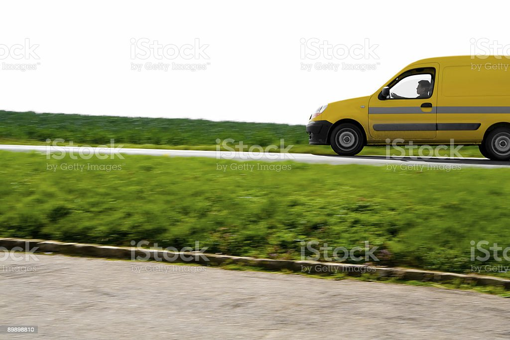 Yellow Car royalty-free stock photo