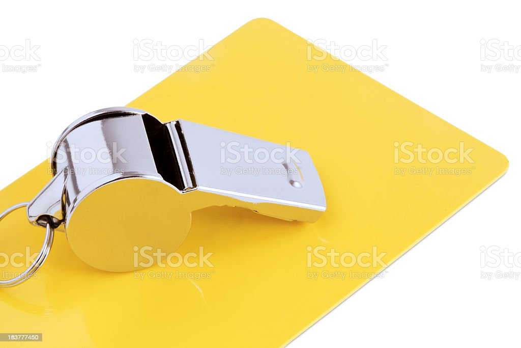 Yellow Card royalty-free stock photo