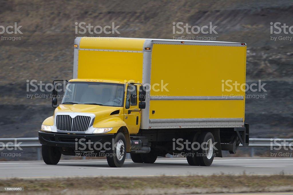 Yellow Cargo Truck stock photo