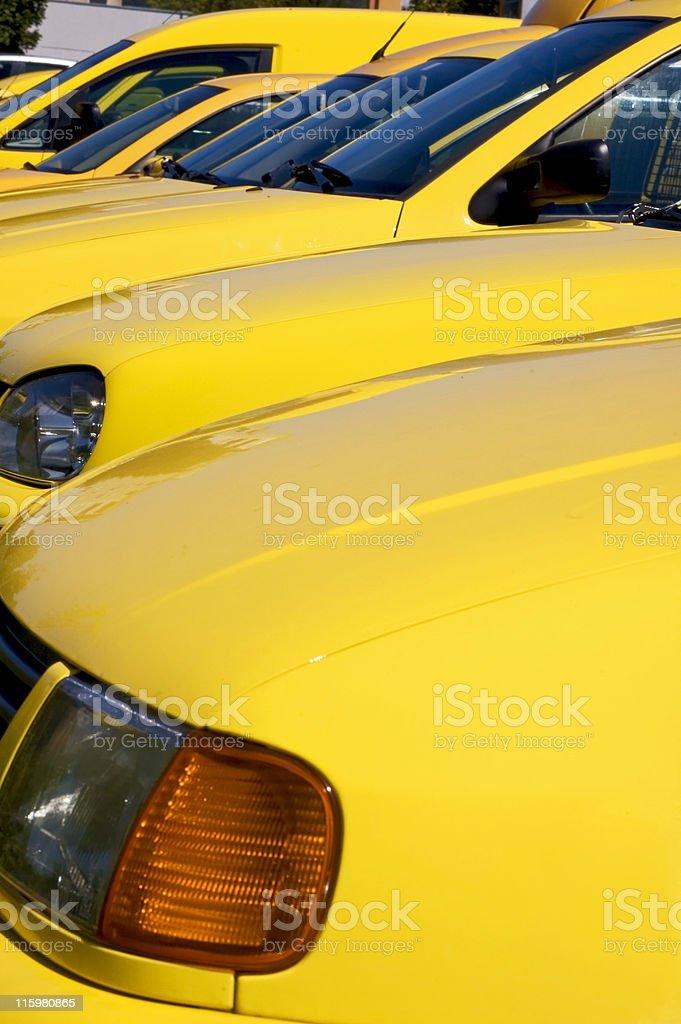 Yellow Cars royalty-free stock photo