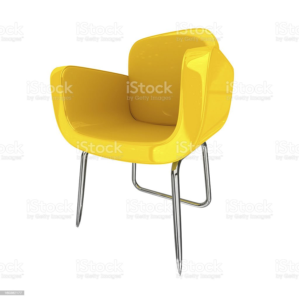 Yellow Chair royalty-free stock photo