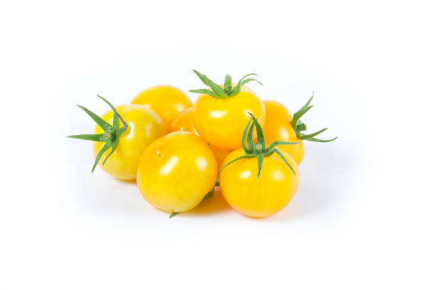 Yellow Cherry Tomato Variety stock photo