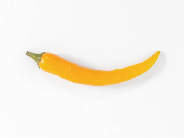 yellow chili stock photo