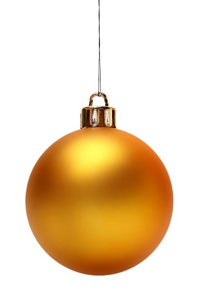 Yellow Christmas Ball (Isolated) stock photo