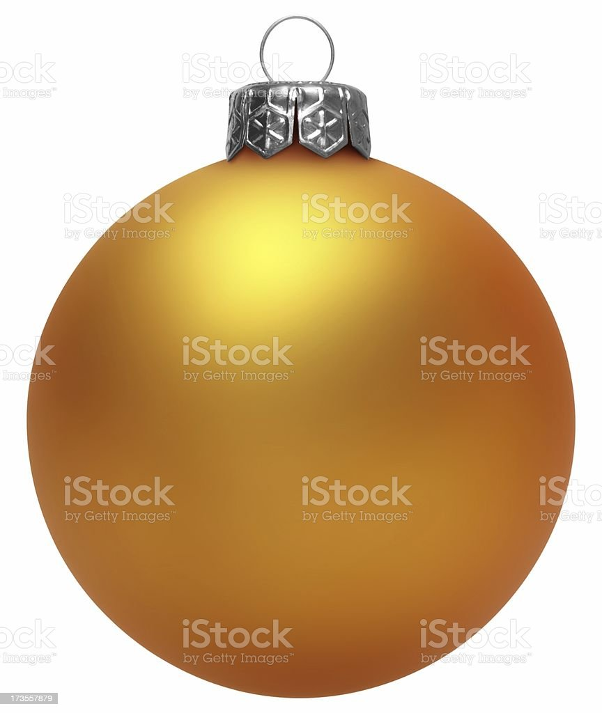Yellow Christmas Ball (Isolated) royalty-free stock photo