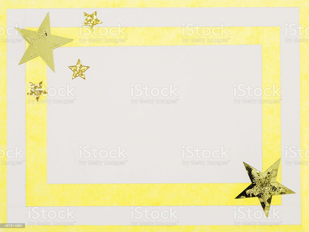 Yellow christmas card stock photo