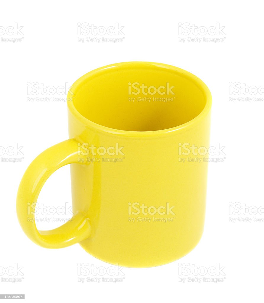 Yellow Clay Cup royalty-free stock photo