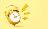 istock Yellow clock ringing 1303039266