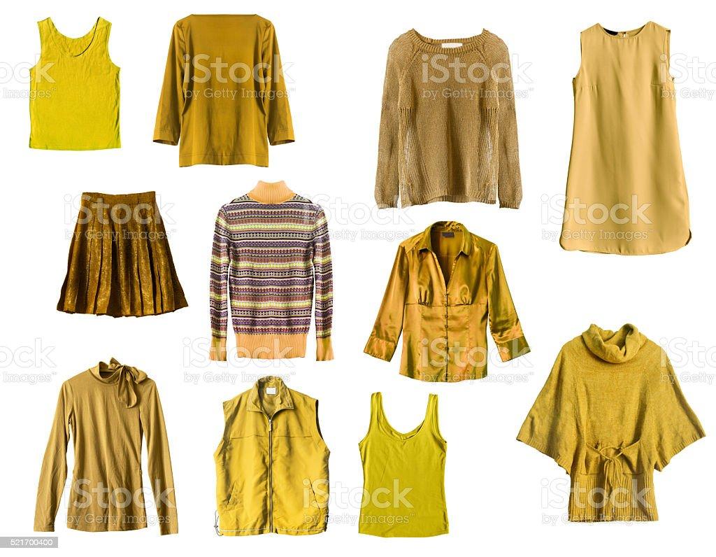 Roupas de Amarela - foto de acervo