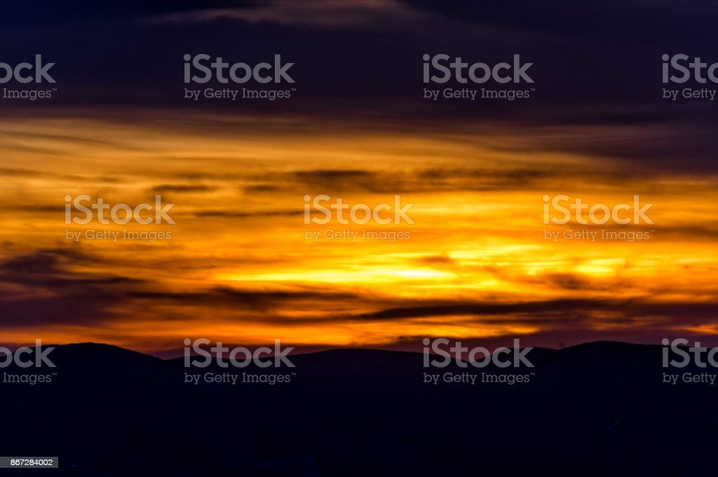 Sarı bulutlar stok fotoğrafı