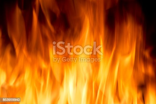 istock Yellow color burning fire frame 853959940