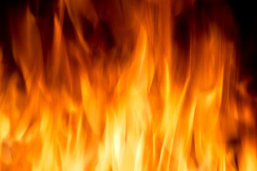 Yellow Color Burning Fire Frame - zdjęcia stockowe i więcej obrazów Abstrakcja