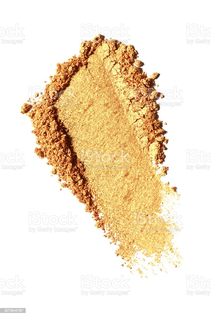 Yellow Color Eyeshadow stock photo