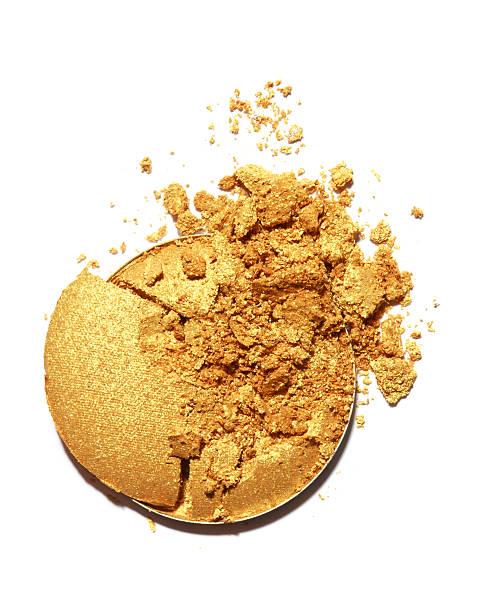 gelbe farbe lidschatten - goldenes augen make up stock-fotos und bilder