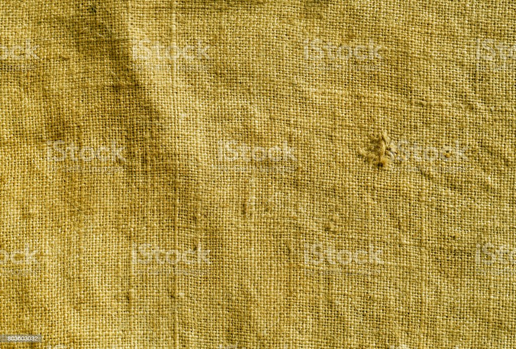 Yellow color hessian sack cloth pattern. stock photo