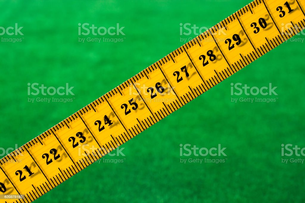 Yellow color measuring tape foto de stock royalty-free