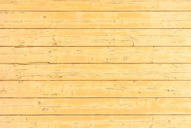 Fond de planches en bois couleur jaune - Photo