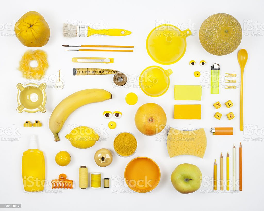 Yellow composition royalty-free stock photo