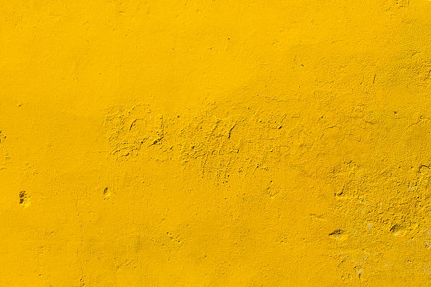 yellow concrete wall - yellow stock photos and pictures