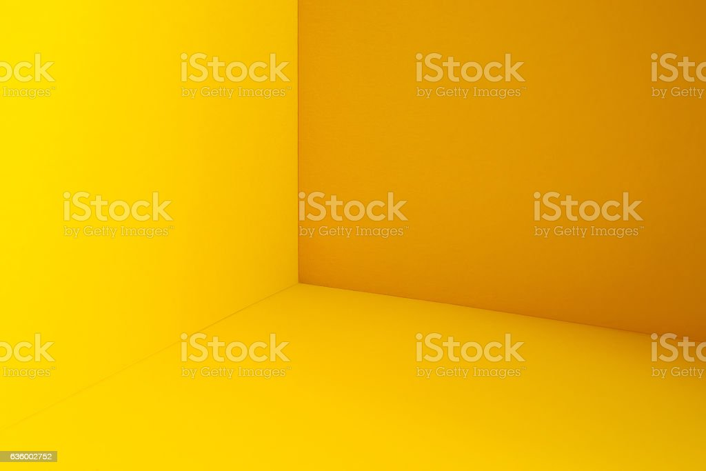 Yellow corner stock photo